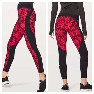 Lululemon Train Times Fast Pace Carminetrue Red